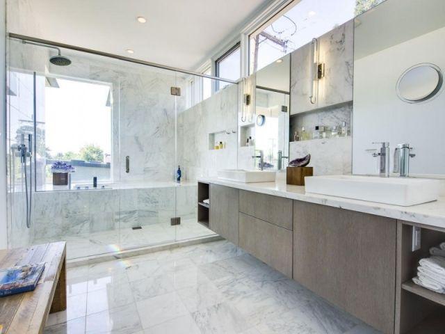 Ablagefläche im Badezimmer-Einbau-regalen Wand-Optik Marmor - badezimmer einbau