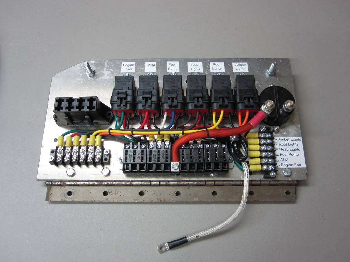 race car fuse box