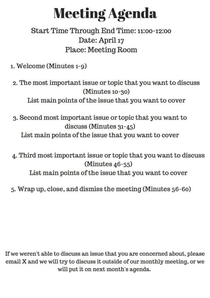 it meeting agenda