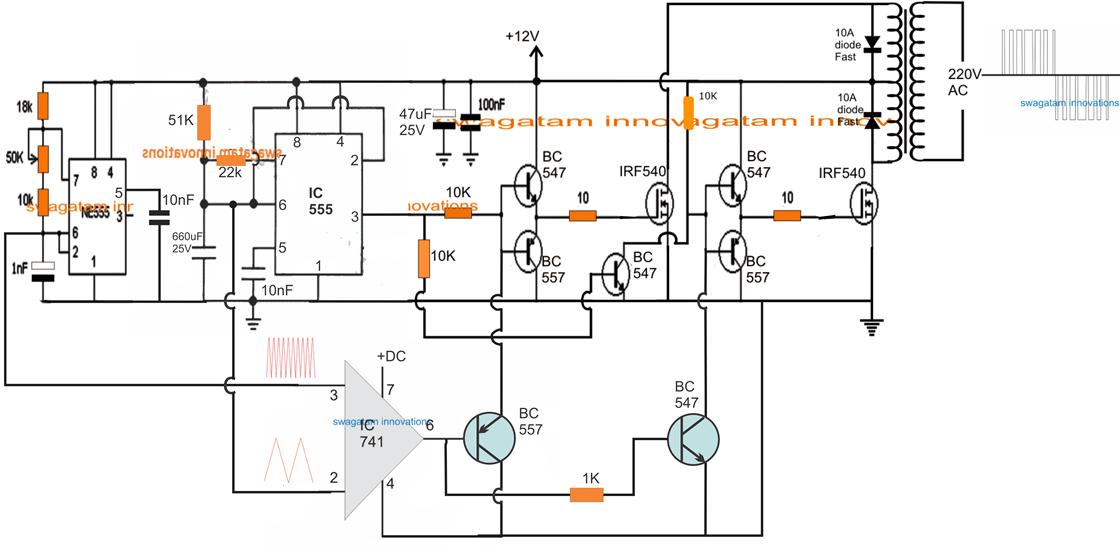 electronic circuit using logic gates