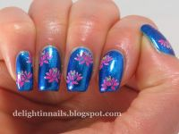 Lotus Nailart over Butter London Airy Fairy (Delight in ...