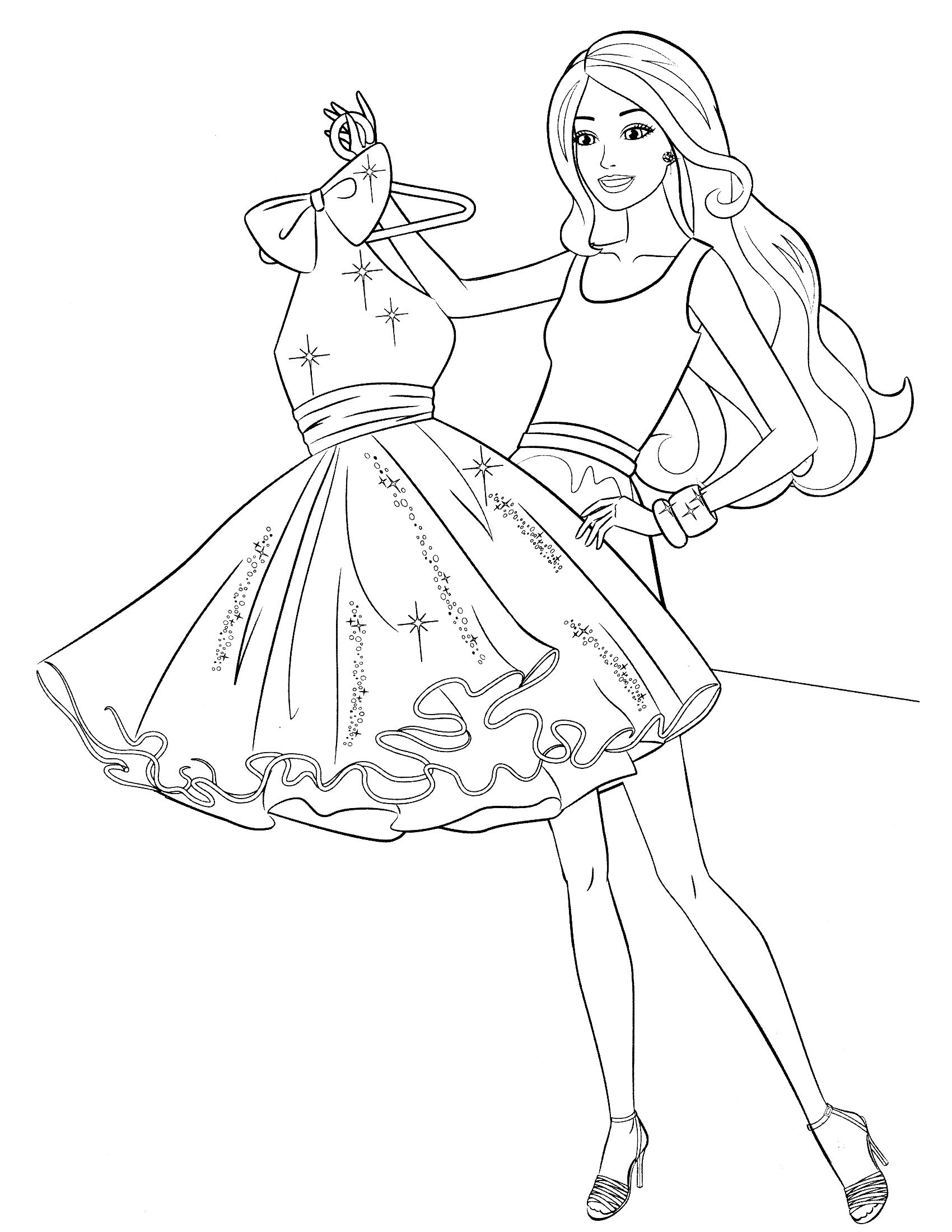 Wonderful barbie coloring pages