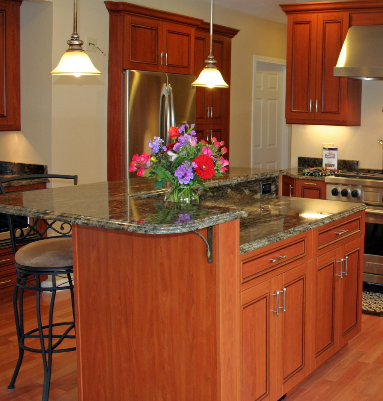 What Is Island Kitchen Kitchen Island With 2 Levels | Kitchen Islands | Pinterest