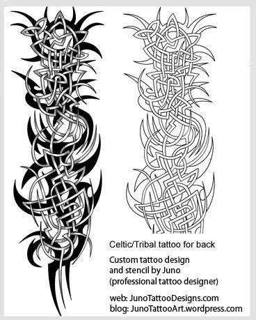 Celtic tribal tattoo for back- tribal tattoo template mattu0027s - tattoo template