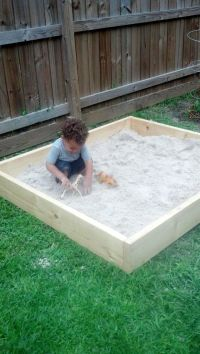 DIY Sandbox | Sandbox, Backyard and Yards