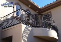 Wrought Iron Balcony Railings with belly pickets | Balcony ...