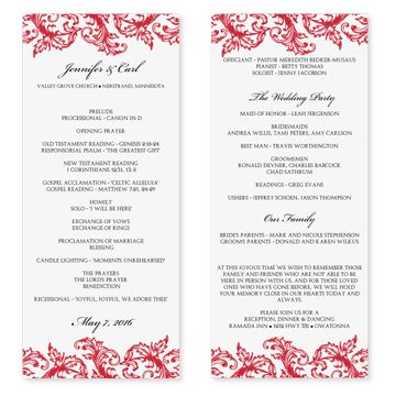 free printable wedding programs Wedding Program Template Pros - sample program templates