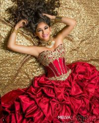 Quinceaera photography with red dress | Quinceaera ...