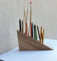 Pencil Holder, Pen Holder, Wooden Desk Organizer, Office ...