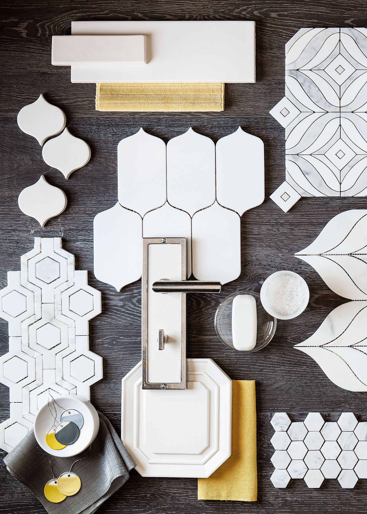 Tiles Design Grey White And Grey With A Touch Of Yellow Make A Snappy Modern