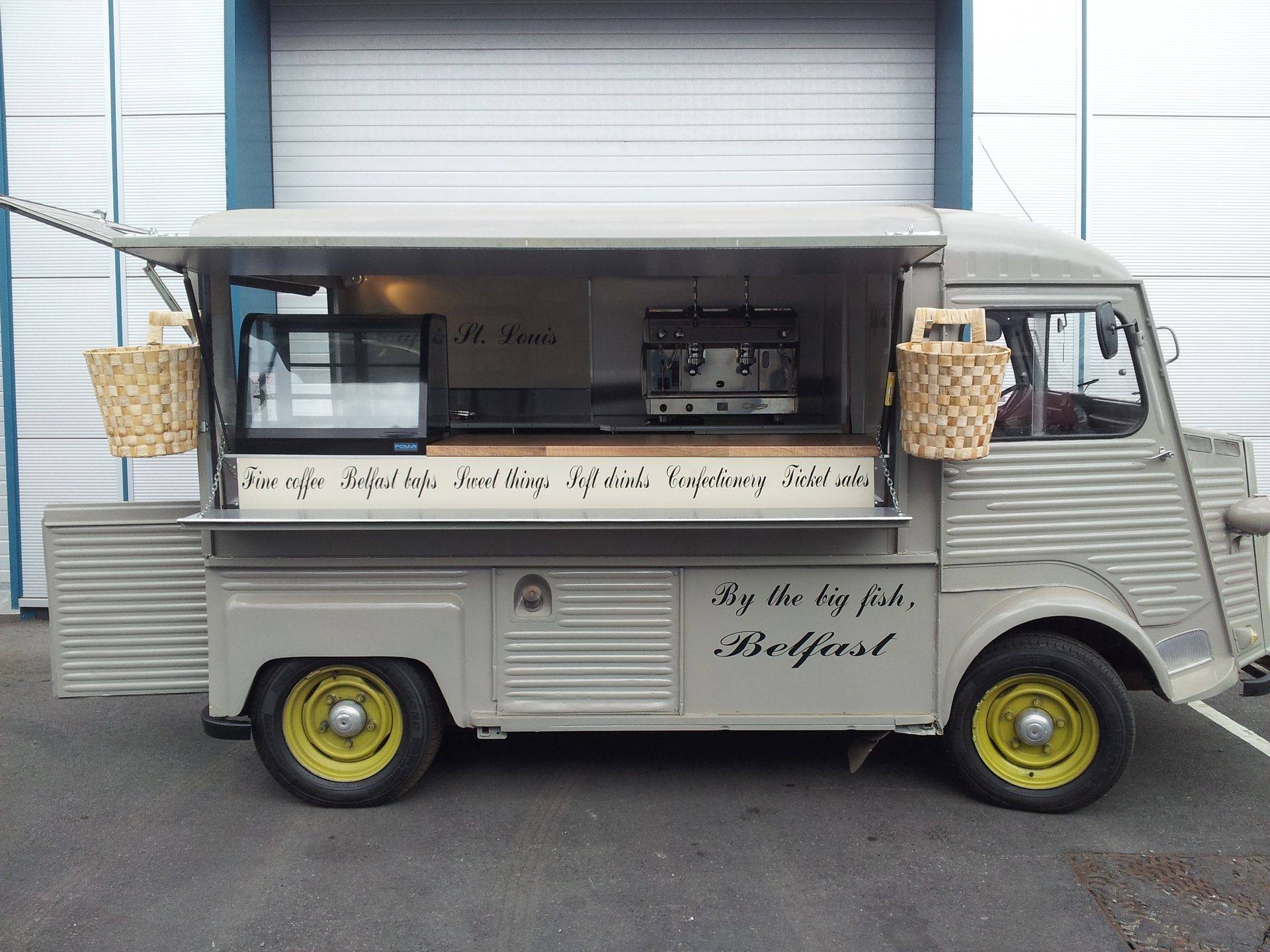 Alchemy Coffee Food Truck Cafe St Louis Belfast Citroen Truck Fitted Out By Dog