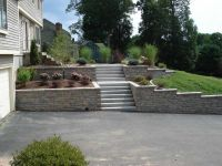 retaining wall driveway - Google Search   Front Yard ...