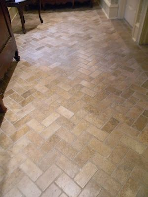 herringbone tile floor Bathroom Inspirations Pinterest - kitchen tile flooring ideas