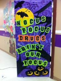 Red Ribbon Week door decoration