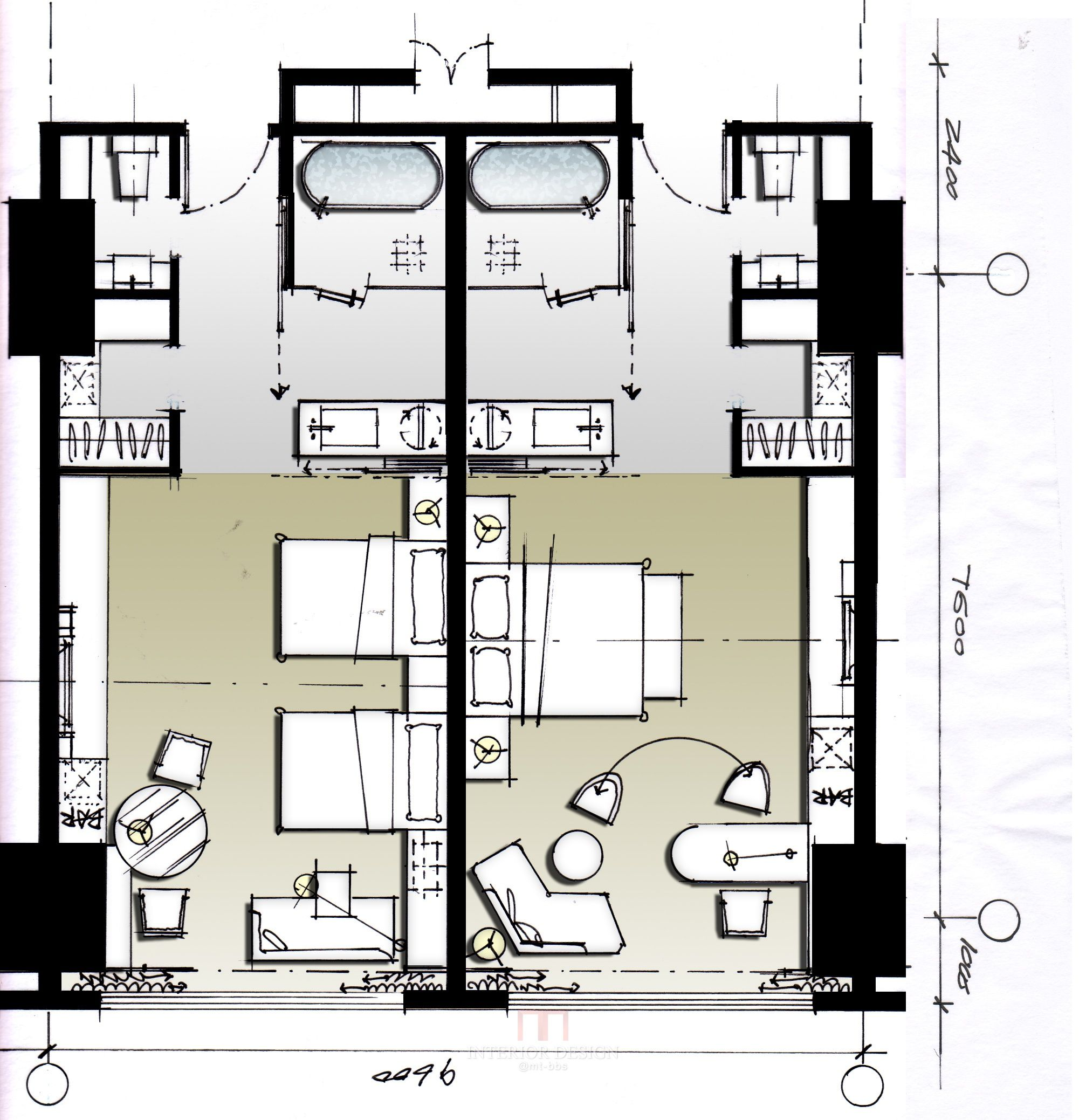Bedroom Floor Layout Https Pinterest Keziakarin Hotel Resort