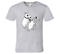 Dog Getting tattoo t-shirt Terrier tattooing dalmatian ...