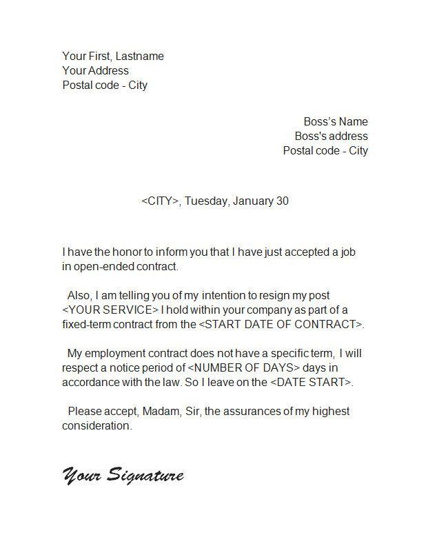 Polite Resignation Letter Resignation Letter Format Sample - formal letter of resignation