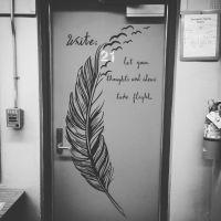 Secondary classroom decoration door decal English ELA
