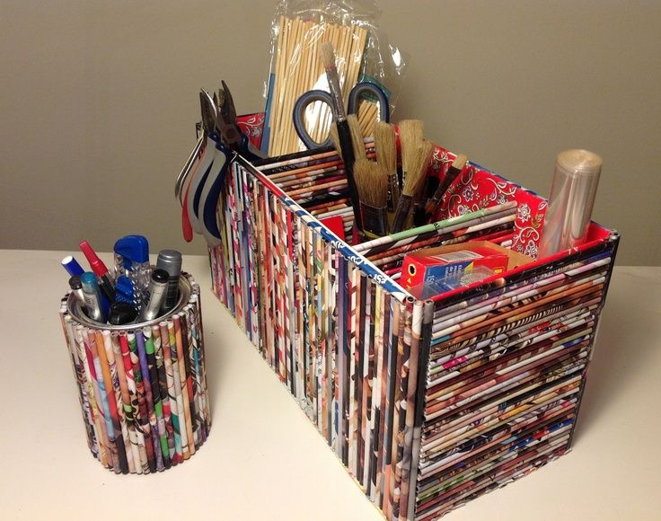 Diy Magazine Paper Craft Ideas | Art Supplies, Storage Boxes And
