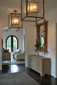 New traditional: a clean, architectural white foyer with ...