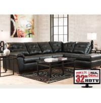 7PC Living Room Package with TV   Leather Furniture Sets ...