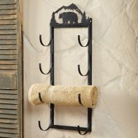 Bear Wall/Door Mount Towel Rack | RUSTIC/COUNTRY DECORE ...