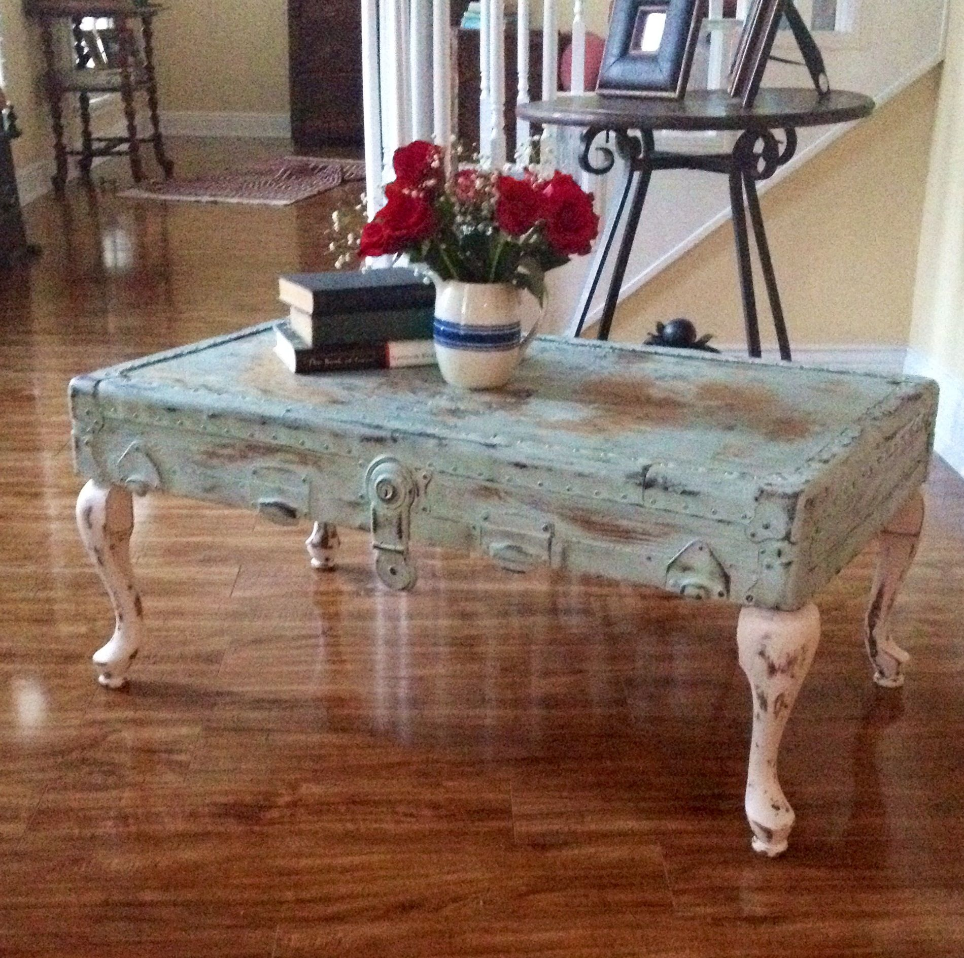 Coffee Table With Lid Shabby Chic Vintage Trunk Lid Coffee Table What A Great