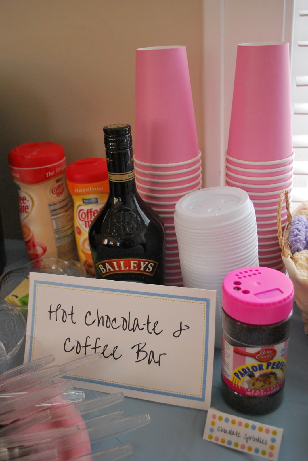Coffee Bar Ideas For Party Hot Chocolate And Coffee Bar Party Idea A Crafty House