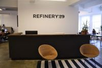 cool reception area at Refinery29 | [ office design tips ...