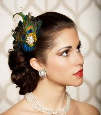Peacock Feather Hair Clip Fascinator Bridal Head by ...