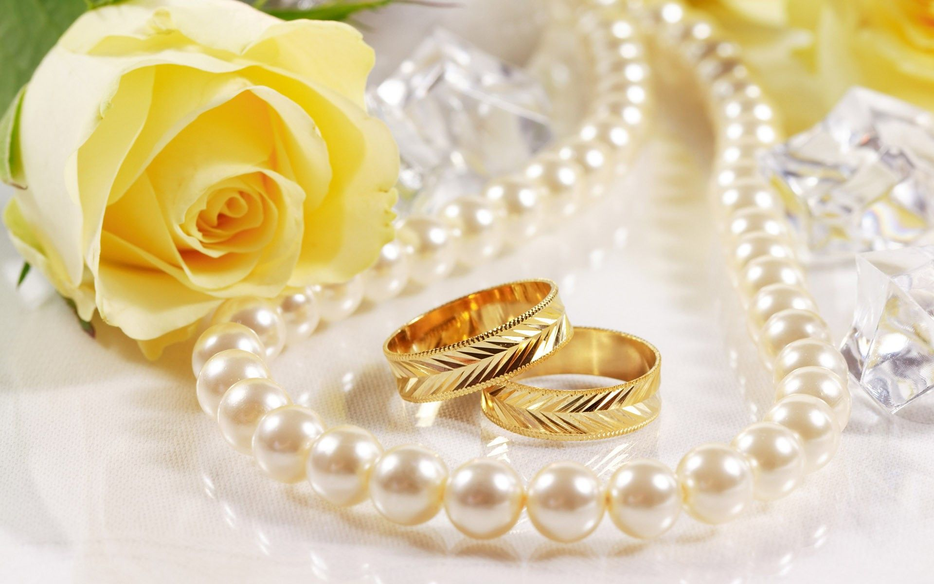 wedding rings pictures Wedding Ring and Flower Rose Wallpaper HD 11 High Resolution Wallpaper Full Size