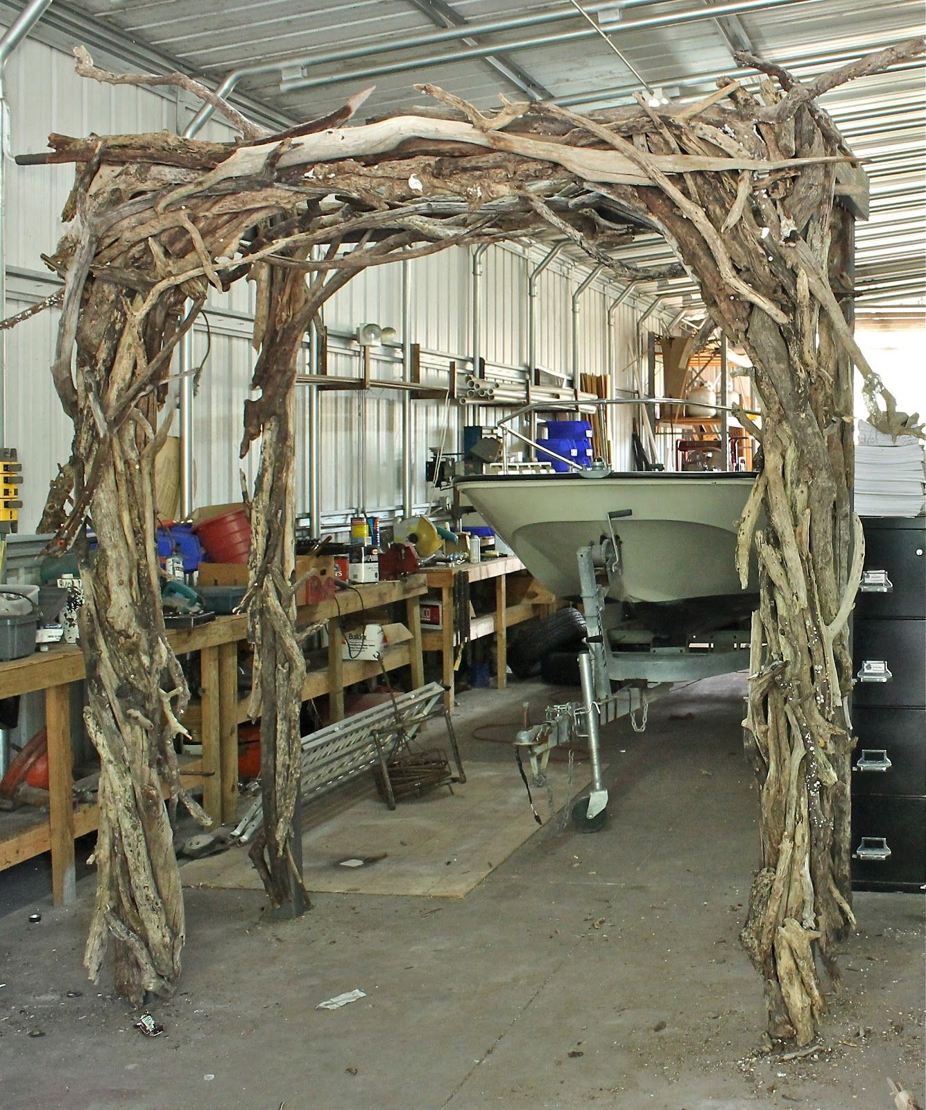 wedding arbor Wood Wedding Trellis Connecting Pieces The Wedding Driftwood Arbor