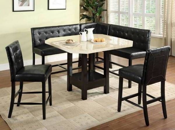 Counter Height Dining Table Set Booth Style Seats Donna