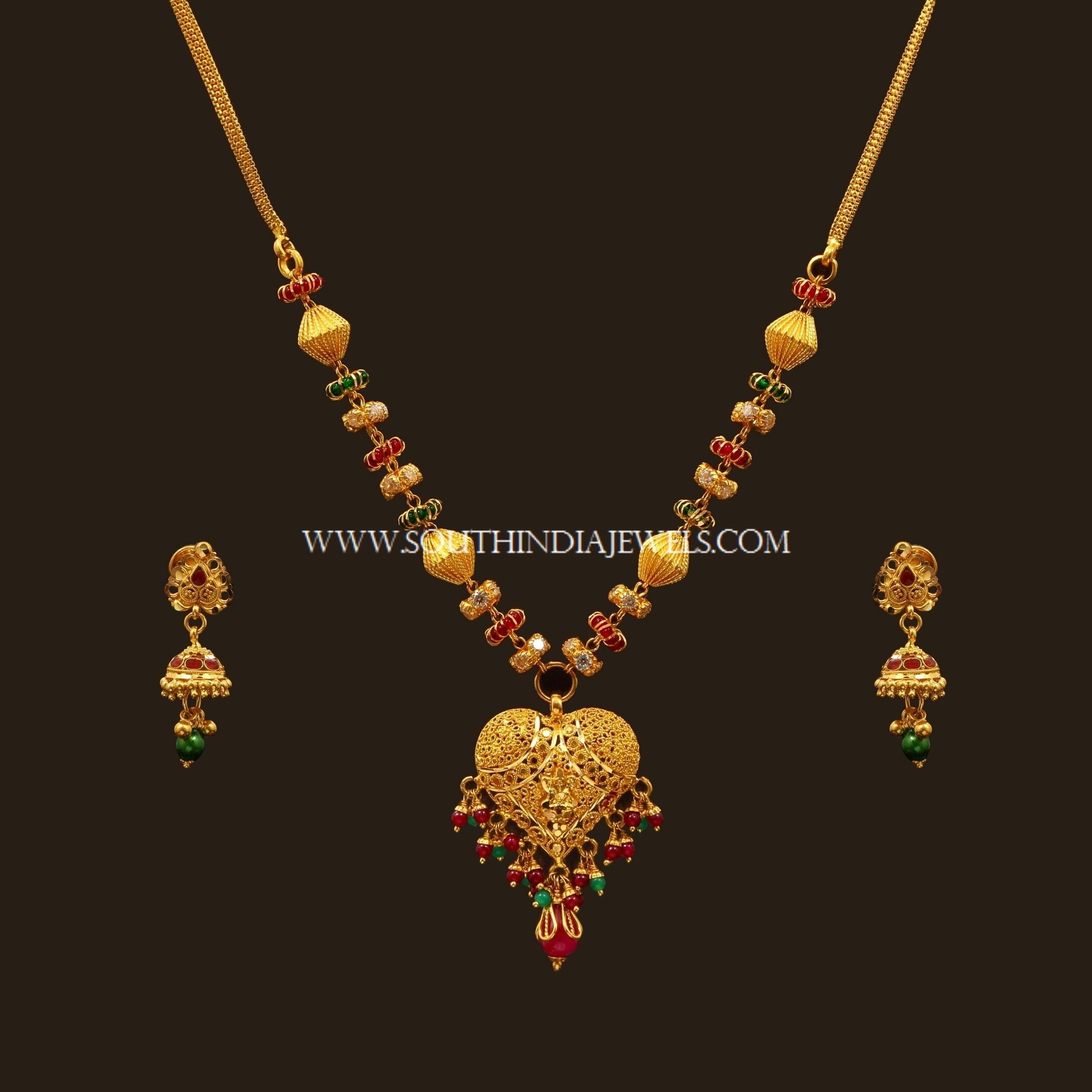 Latest Gold Necklace Set Designs With Price Set Design
