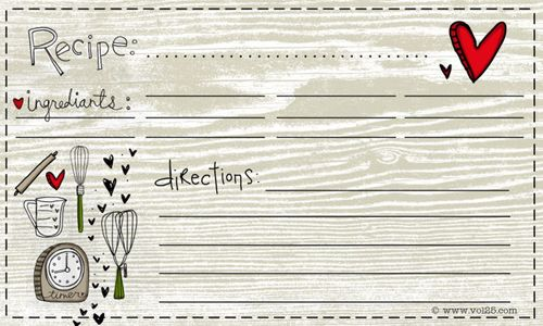 10+1 Free Recipe Cards to Print Recipe cards, Free printable and - free recipe card templates for microsoft word