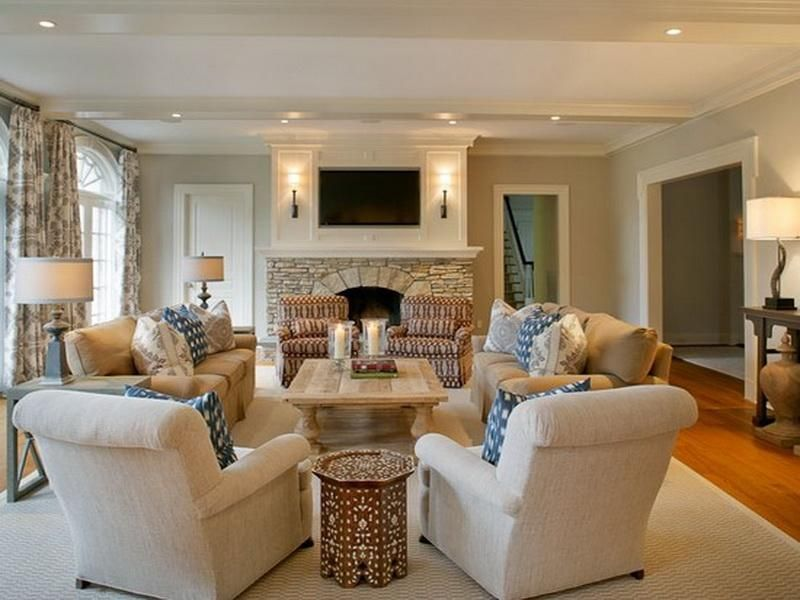 Some ideas for arranging furniture in a long and narrow living - formal living room chairs