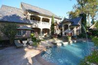 Veranda, patio, pool layout. Via:FRench Country Manor ...