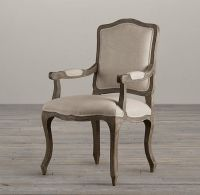Vintage French Camelback Upholstered Armchair | Fabric Arm ...