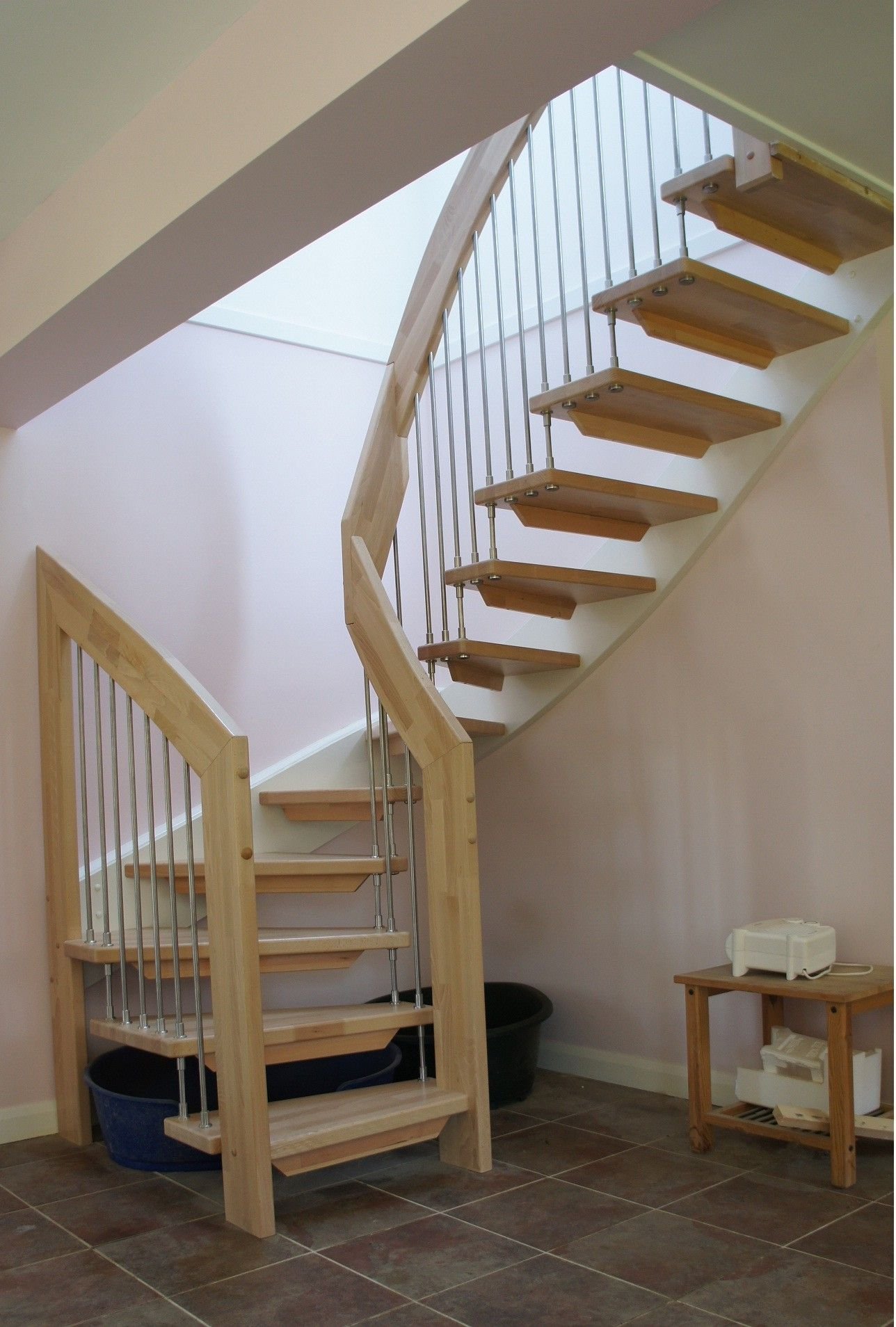Simple Stairs Design Simple Design Ideas Of Small Space Staircase With Brown