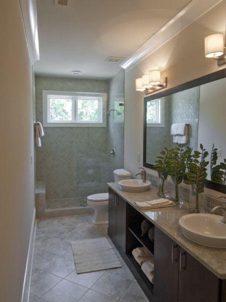Modern Narrow Bathroom Interior Small Window Kitchen Bath