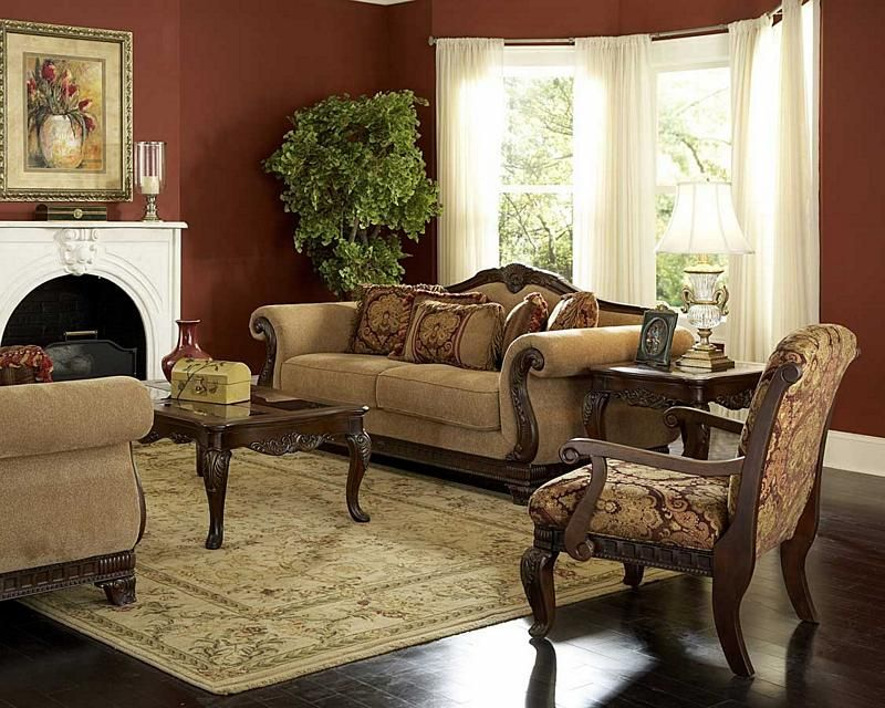 Old World Living Rooms Old World traditional living room - country living room sets