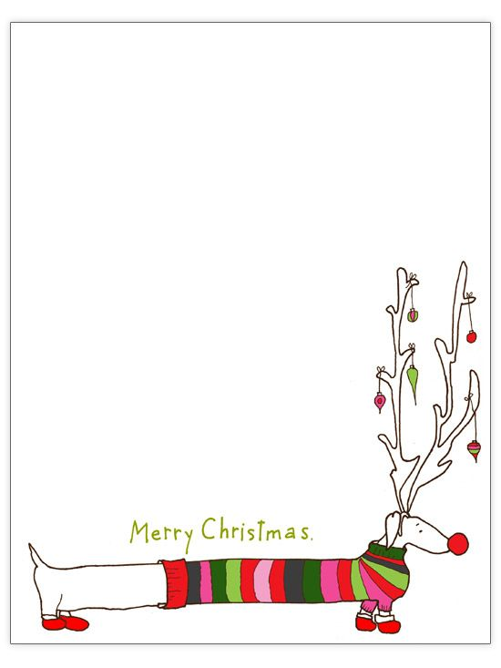 Free downloadable, printable Christmas letter templates - christmas letterhead templates word