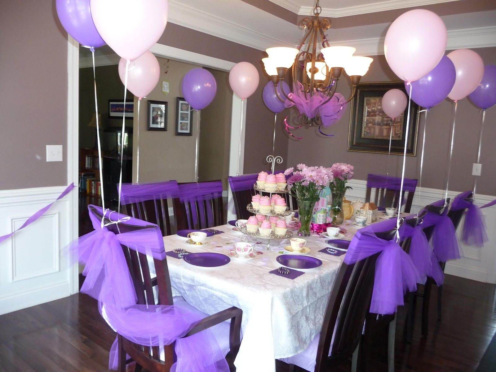 Decoration For Party Lavender Table Decorations Trianglemommies Throwing A