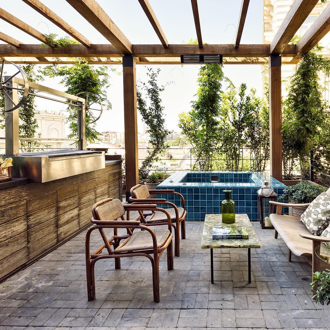 Chakuzi Outdoor Jacuzzi And Bbq // The Apartment At Soho House
