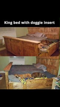 King size bed with dog beds attached | Dog Training Tips ...