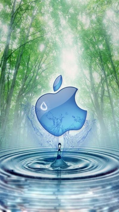 Apple and Water Tree iphone 5 wallpapers downloads | Watery Wallpaper! | Pinterest | Wallpaper ...