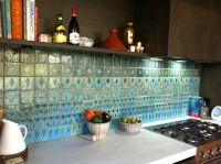 kitchen with Morrocan tile splash back | Home | Pinterest ...