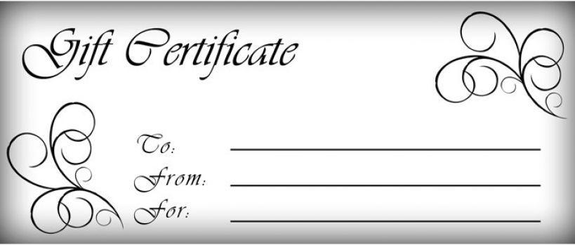 gift certificates templates Free printable gift certificate - blank vouchers template