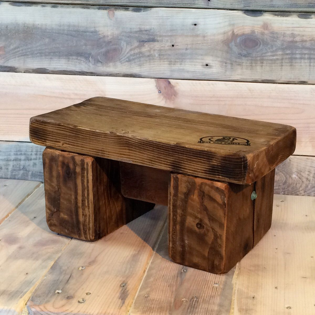 Kids Wooden Stool Childs Wooden Step Stool In Recycled Wood Kids Bathroom
