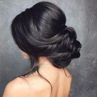 Low bun wedding hair | Bridal chignon, Low updo and Chignons